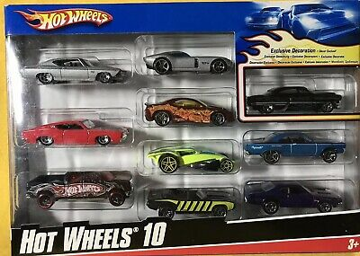 Hot Wheels 10er Pack Set ~Exclusiv Dekoration~ 1/64 ()