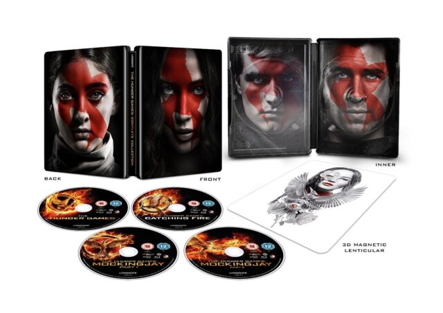 ❏ The Hunger Games - Complete 4 Film Collection Blu Ray STEELBOOK ❏ Mockingjay