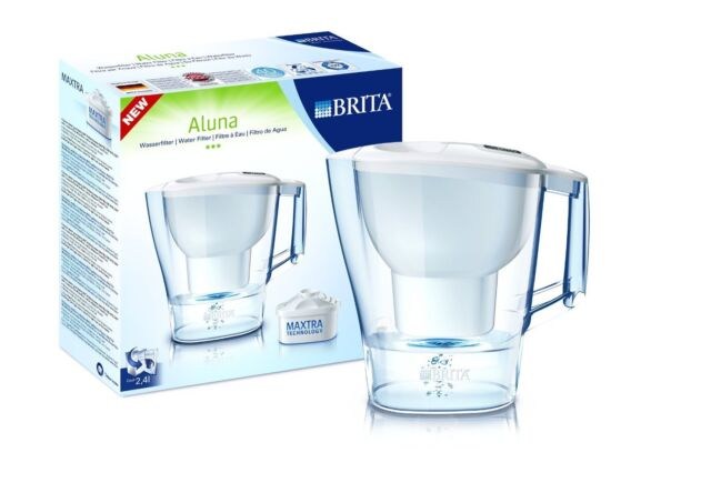 BRITA Aluna 2.4L Cool Frosted Water Filter Jug MAXTRA Cartridge Cleaner Water