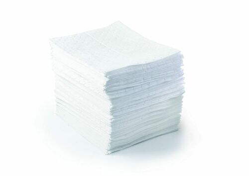 """Brady SPC BPO500 15"""" x 17"""" Light Weight Economical Oil Only Absorbent Pads 100CT"""