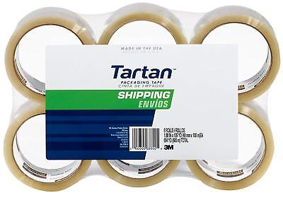 3m Tartan Shipping Packaging Carton Sealing Tape 1.88 X 109.36 Yard - 6 Pack
