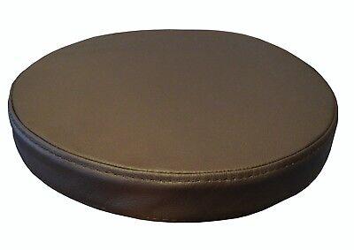 Runde Dunkelbraun Sitzkissen Echt Leder Sitzpolster Sessel Stuhle Bar Hocker  ()