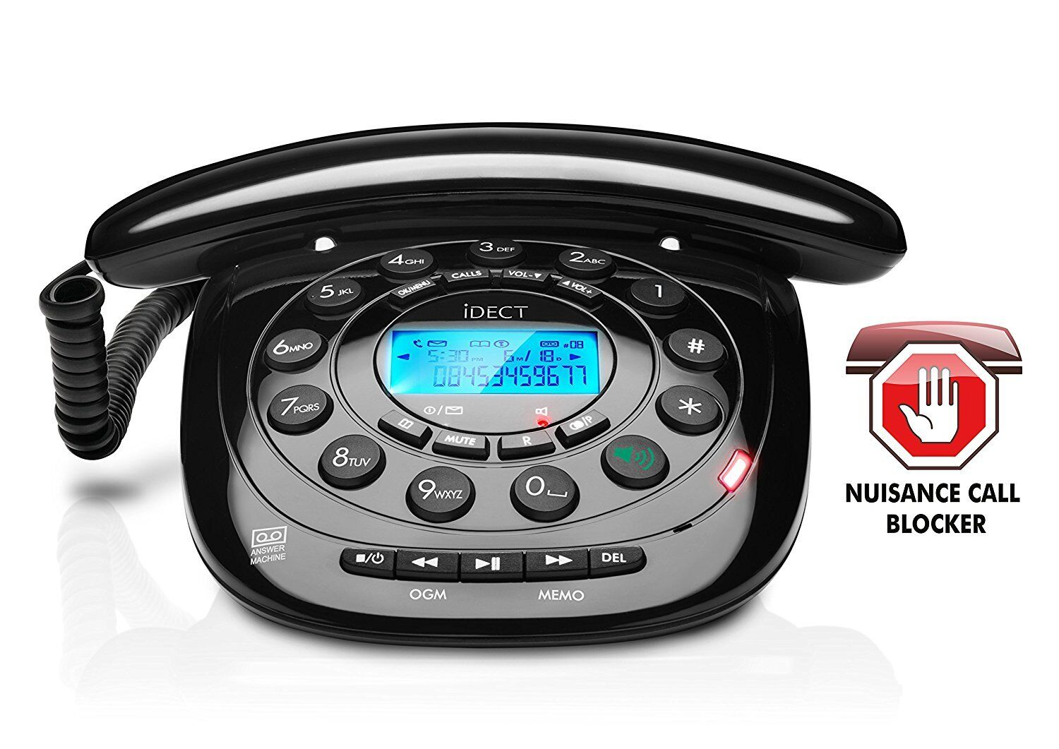 Details about iDECT Home Landline Dect Phone Telephone Call Blocking Answer  Machine Caller ID