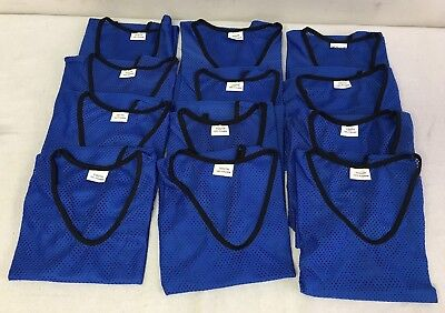 41f679d90 Nylon Mesh Blue Scrimmage 12 Team Practice Vests Jerseys for Youth Sports