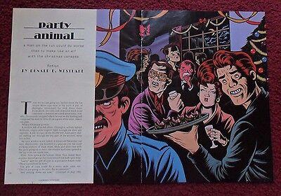 1992 Magazine Short Story 'Party Animal' by Donald Westlake w Charles Burns ART
