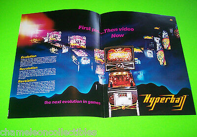 Williams 1981 HYPERBALL Original NOS Arcade Pinball Machine Promo Sales Flyer