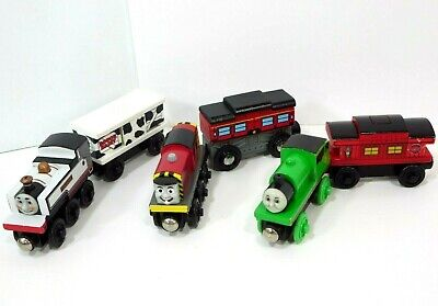 Thomas & Friends Wooden Railway Fearless Freddie Percy Salty Sodor Dairy Car Lot