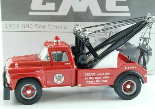 NEW FIRST GEAR 1958 TEXACO TRUST GMC TOW TRUCK SERIAL #, DIE-CAST, 18-2356, 1/34