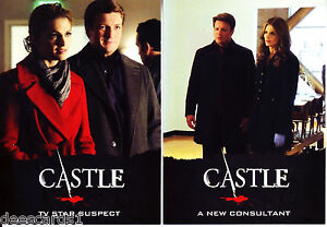 Castle Trading Cards Television Series Seasons 3 & 4 Complete 72 Card Base Set