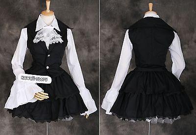 M-3295 Gothic Steam Punk Lolita Bluse Rock Cosplay Kostüm costume Anzug Set