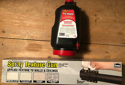 Manual Spray Texture Gun Homax 4205 Pump Action W Pro 1gal Hopper