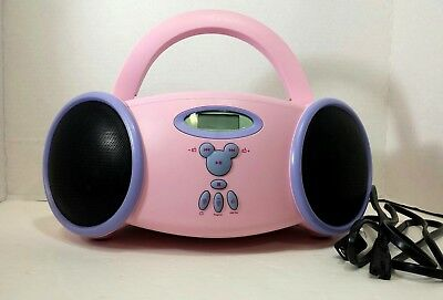 Disney Princess Portable CD Player Boombox AM/FM Radio Pink and Purple