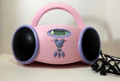 Disney Princess Portable CD Player Boombox AM/FM Radio Pink and Purple  ()