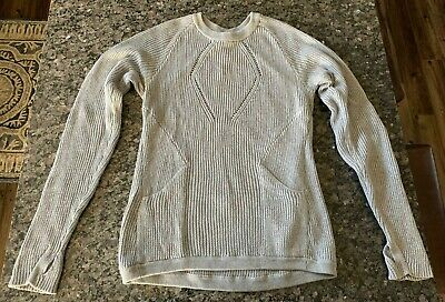 Lululemon The Sweater The Better Crewneck Thumbhole Pocket Sweater Size 8