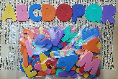 FUNKY FOAM x4 Alphabets x104 Letters Die Cuts Cardmaking Personalise Kids Names