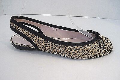 Leopard-print-slingbacks (Paul Mayer Attitudes  Leopard Print Slingbacks Flats Size 7B, Rare)