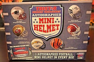 2017 NFL TRISTAR AUTOGRAPH FOOTBALL MINI HELMET BOX LIVE BREAK-1 RANDOM TEAM-587