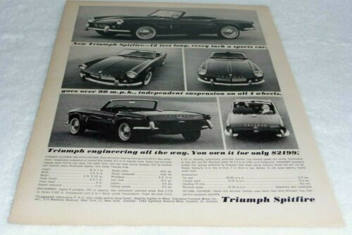 TRIUMPH SPITFIRE SPORTS CARS ADVERTISEMENT -