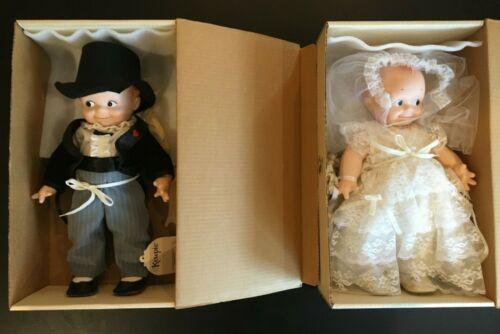 Vintage 1983 Kewpie Dolls Bride & Groom 6104 & 6105 Jesco