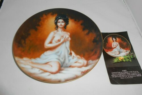 1980 Classical American Beauties Collector Plate Dawn Semi Nude Model