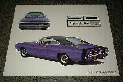 ★★1970 DODGE CHARGER R/T SE MOPAR ART 68 69 70 440 HEMI RT PLUM CRAZY (1970 Dodge Challenger Rt Plum Crazy Purple)