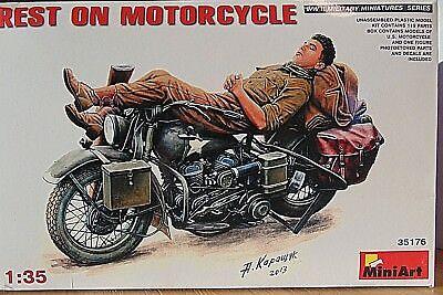Militär Motorrad ( Rest on Motorcycle ) WW II Military * 1:35 Miniart 35176