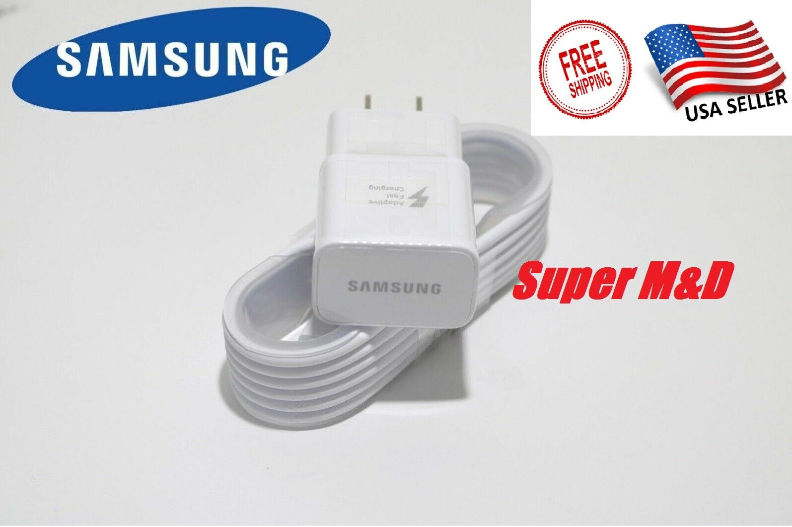 Samsung Charge Adapter with 5 Ft USB Sync Charging Cable - N