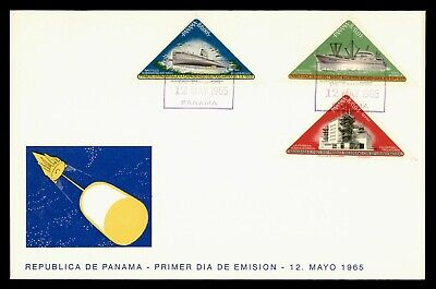 DR WHO 1965 PANAMA FDC SPACE CACHET TRANSPORTATION TRIANGLE COMBO  g21873