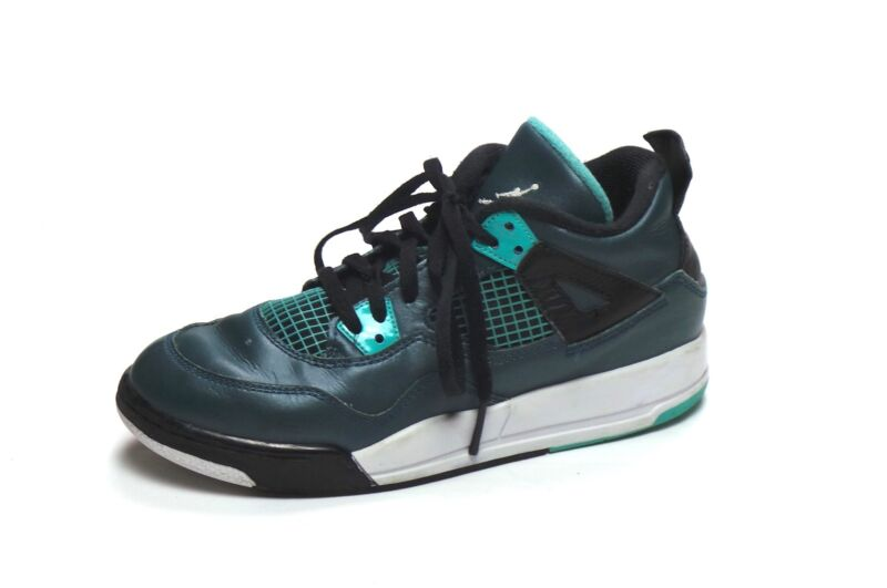 11ec6e8ee7b105 ... get air jordan 4 retroiv bp ps teal white black retro 308499 330 size  3y 8ca03
