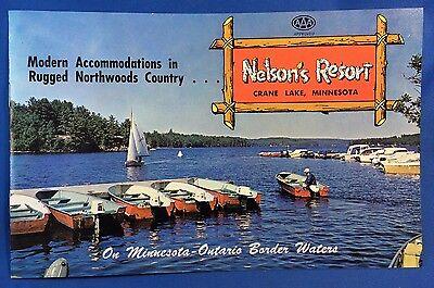 1963 CRANE LAKE Minn Nelson's Resort Northwoods Photo Brochure Vintage Original