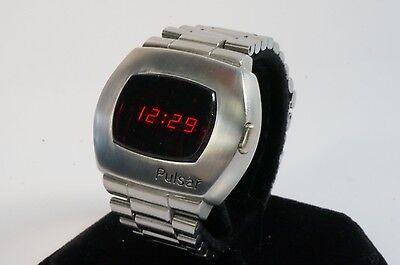 Pulsar P2 1973 SS LED watch SERVICED w/ WARRANTY