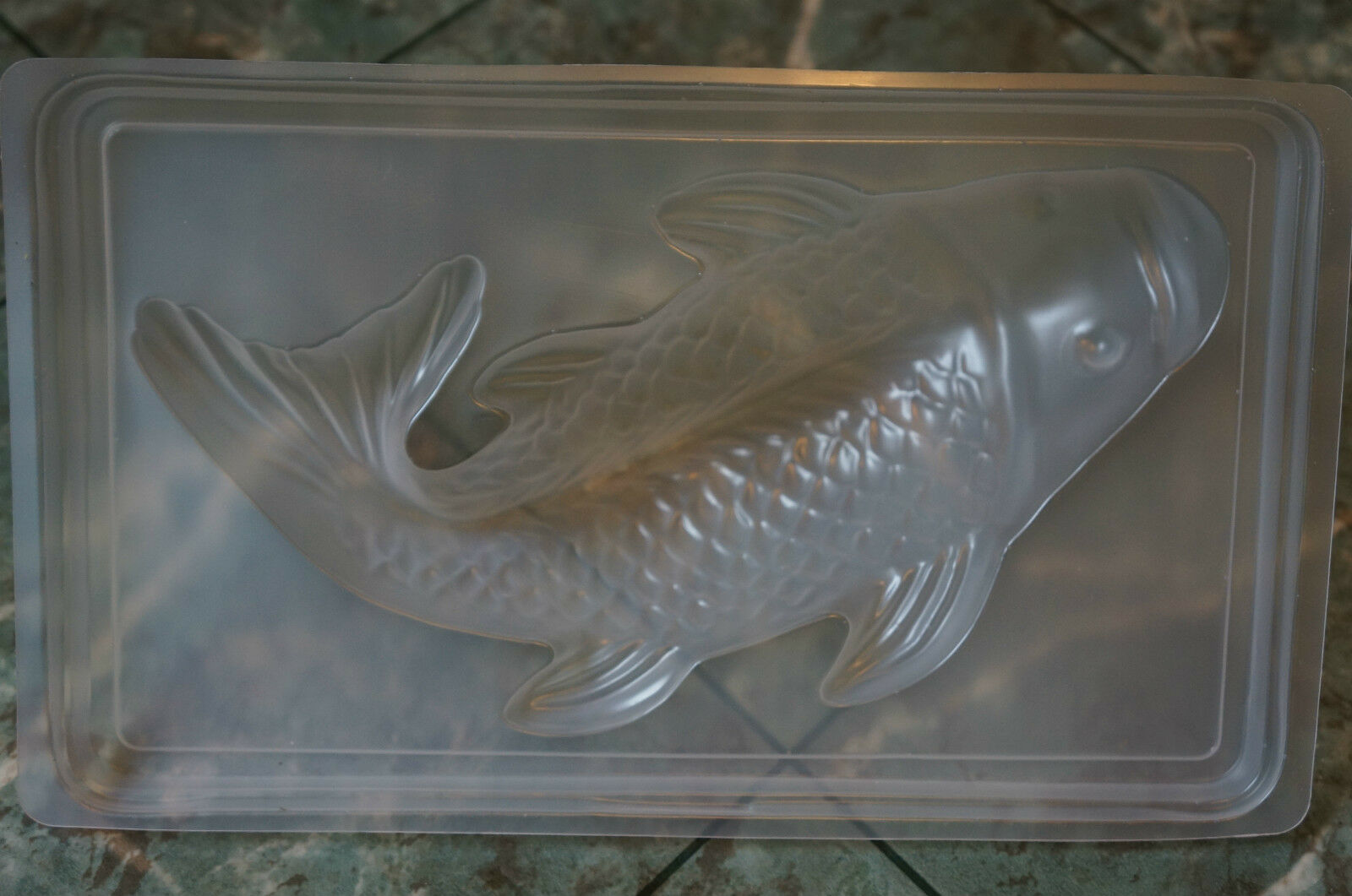 Fish koi chocolate jello steam pudding plastic mold lg for Plastic koi fish