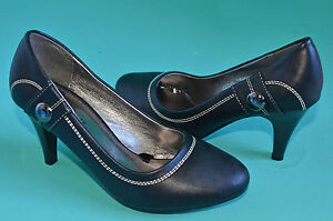 NEW-Women-Heels-shoes-Black-US-size-5-6-7-8-9