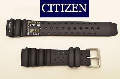 Citizen 20mm Eco-drive Original Divers Rubber Watch Band Strap Black Bn0000-04h