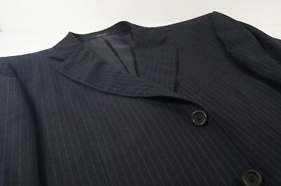 Used, Dunhill London Dark Blue w/ Lt. Blue Pinstripes Suit Coat EU 56 R / USA 46 R for sale  Shipping to India