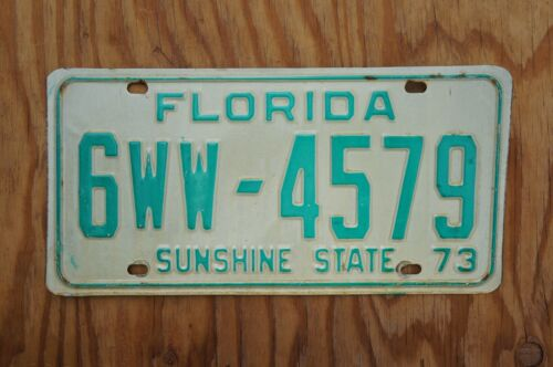 1973 PALM BEACH County Florida License Plate