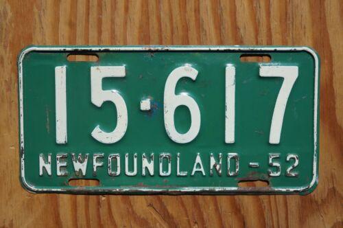 1952 NEWFOUNDLAND Canada License Plate
