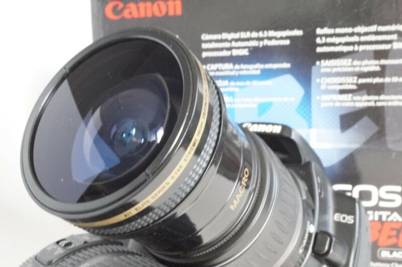 New Ultra Wide Angle Macro Fisheye Lens For Canon EOS Digital Rebel Camera 58mm