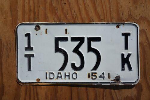 1954 Idaho License Plate # 535