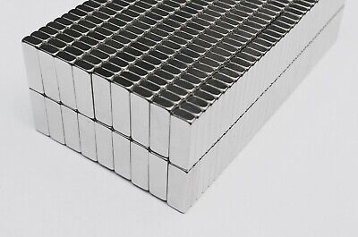 25 50 100 250pcs 16mm X 6mm X 3mm Nickel Coated Bar Magnets N35 Neodymium