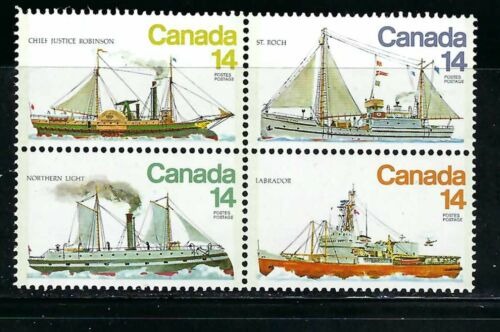 CANADA - SCOTT 779a - VFNH - BLOCK OF 4 - ICE VESSELS -1978