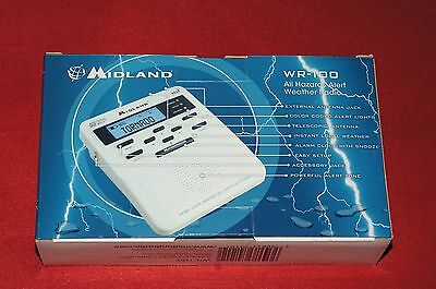 Midland WR-100 Emergency Weather Alert Radio NOAA Brand New
