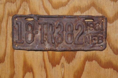 1931 Nebraska TRAILER License Plate