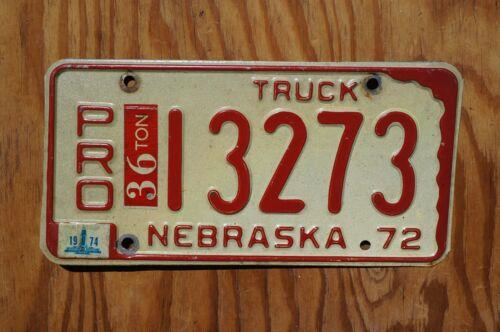 1974 Nebraska PRO License Plate