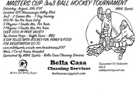 MASTERS CUP 3v3 BALL HOCKEY TOURNAMENT!!