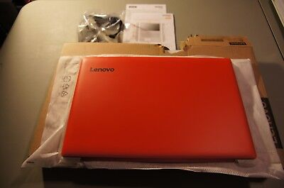 "New Lenovo ideapad 320 15.6"" Laptop Windows10 Celeron N3350 4GB RAM 1TB HD Red"