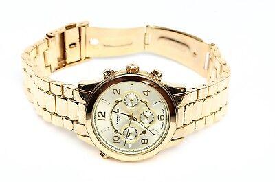 Akribos XXIV Women's Champagne Dial Gold Tone Watch 0229