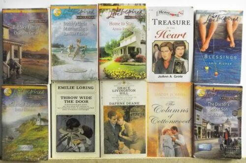 10 REIGIOUS ROMANCE NOVELS Books FREE US S/H Read List Lot #h605 Christian