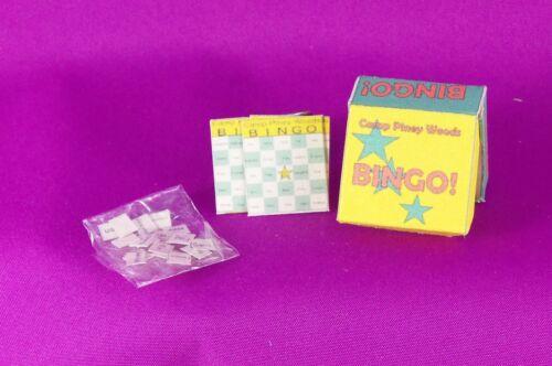 Dollhouse Miniature 1:12 Scale Bingo Game Box