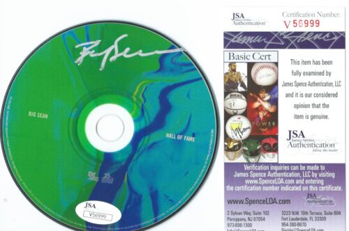 BIG SEAN SIGNED HALL OF FAME CD AUTOGRAPHED DARK SKY PARADISE HIP HOP +JSA COA